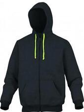 Men's Plain Polycotton Zip Neck Hoodies & Sweats