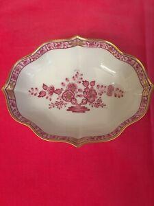 Augarten Wien Porcelain Candy Bonbon Dish Bowl Painted Flowers