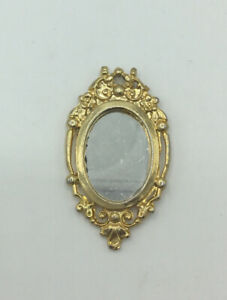 Dolls House Gold Wall Mirror