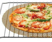 MARRONE/NATURALE RETE PER PIZZA FORNO LENZUOLO/VASSOIO- PER CROCCANTI BASI 32CM