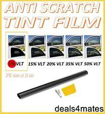 NON-SCRATCH CAR VAN HOME WINDOW TINT FILM SUPER DARK LIMO BLACK  5% 76cm x 3M