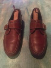 Cole Haan Size Women 8.5 N Brown Leather Buckle Strap Loafers Leather Soles