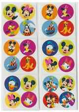 "80 Mickey Mouse Disney Pals Mini Stickers, 1.2"" Round Each, Party Favors"