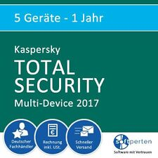 Kaspersky Total Security 2017 - Multi-Device, 5 Geräte - 1 Jahr, ESD