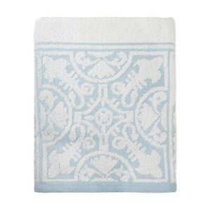 100% Premium Cotton White Jacquard Design Bath Towel 60x130cm FREE DELIVERY*