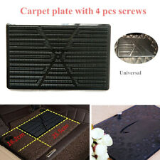 Car Floor Mat Carpet Scuff Guard Foot Rest Pedal Plate Pad Black Wire Ring/Nest