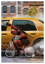 DEADPOOL 2 TEXTLESS BIKE POSTER A4 A3 A2 A1 CINEMA FILM MOVIE LARGE FORMAT