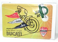 NOSTALGIC-ART - DUCATI Happy Holidays Blechschild Blechkarte 10x14,5cm #01 *WR9