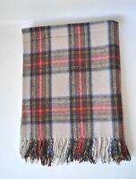 New BNWT Scottish Throw Large Wool Tartan Rug Stewart Dress Blanket