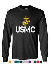 USMC Logo Long Sleeve T-Shirt United States Marine Corps Military
