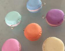 6 macarones macaron grandi misti polimery clay handmade fimo ciondoli