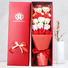Gifts 9x Soap Flower Petals Thanksgiving Valentine's Day Rose Birthday Bear Box