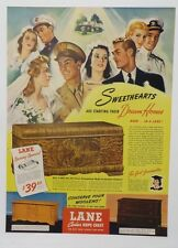 Original Print Ad 1943 LANE CEDAR HOPE CHEST Sweethearts Start Dream Homes