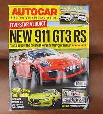Autocar 27 May 2015.911 GT3 RS -Ace!,BMW Batmobile,Novice radiacl Race.UK P&Pinc