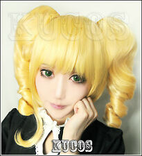 Cosplay Perücke Black Butler Kuroshitsuji ELIZABETH BLONDE GOLD Anime haar