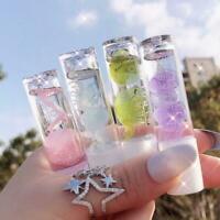 petal transparent lip gloss oil hydrating moisturizer natural lasting long K4I3