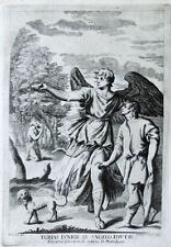 1691 Tobias und der Engel Raphael Tizian Tiziano Kupferstich