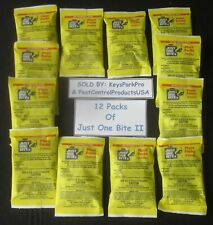 Just One Bite II Pellet Packs 12 Packs 1.5 Oz packs Rat&Mouse Bait FREE PRIORITY