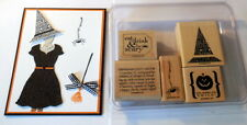 Stampin Up~Eat Drink & Be Scary set~use curly label tag punches all dressed up