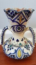 Vtg Moroccan Vase Pottery Signed Safi