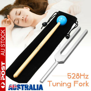 Tuning Fork Set 528Hz Health Care Clear Tone Healing Relaxation With Mallet AU