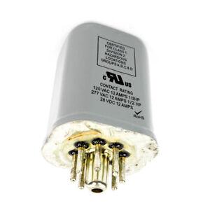 Dayton Sealed Relay DPDT 12 Amp 240VAC Coil Volts 8 Pin Octal 1EGX6