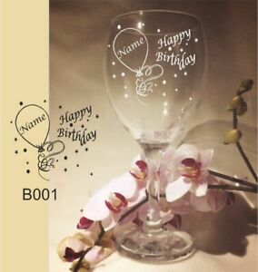 PERSONALISED ENGRAVED WINE GLASS BIRTHDAY GIFT 18TH 21ST 30TH 40TH 50TH ANY AGE