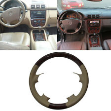 Leather Wood Steering Wheel Cover Protector Mercedes 98-05 W163 M ML ML320 ML430