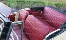 """1948-52 Willys Jeepster Upholstery - 3"""" Pleats/Backrest Caps Plus Armrest Covers"""