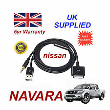 For Nissan NAVARA iPhone iPod USB & Aux Cable replacement (Black)