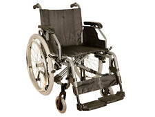 Carrozzina disabili King in alluminio - seduta 46 cm - tessuto nero Gima 27720