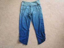 Kyodan Women's blue black dot pants capris XS yoga cycling running