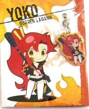 Tengen Toppa Gurren Lagann Yoko Fastener Metal Charm Anime Manga Game MINT