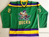 The Mighty Ducks #21 Dean Portman Hockey Jersey Men's Stitched Green