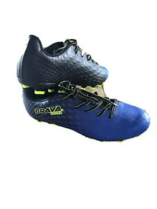 BRAVA Soccer Cleats Mens Size 10.5 Black Blue