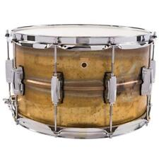 """Ludwig LB484R Supraphonic 8""""x14"""" Raw Brass Snare Drum w/ Imperial Lugs"""