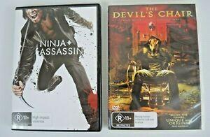 The Devil's Chair 2006 & Ninja Assassin 2009 DVD R18+ PAL 4 Horror FREE POSTAGE