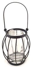 Country Glass Jar With Metal Basket