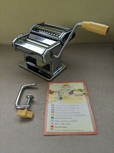 Marcato Atlas 150 Deluxe Pasta Noodle Maker Machine Stainless Steel-Italy