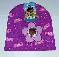 Disney Junior Doc McStuffing Girls  Knit Hat Beanie One Size Fits Most New