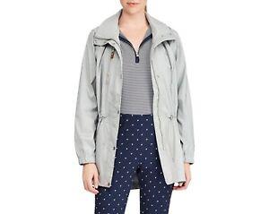 NEW Ralph Lauren Golf Womens Water Repellent Jacket Long Navy Silver L XL $198