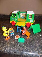 Vintage Tyco Sesame Street Camper Bus Van Toy 1995 Camping Figures Play Set
