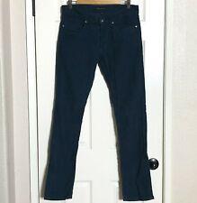THEORY Men's Corduroy Pant Sz 32 X 32 Button Fly Dark Teal Blue Slim Straight