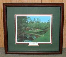 """Framed - 12th at Augusta golf print   MASTERS = 16"""" x 18"""" overall size Giclee"""