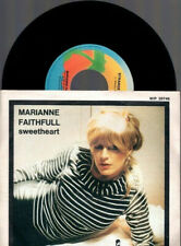 "MARIANNE FAITHFULL SWEETHEART + STRANGE ONE 1981 ITALY 7"" 45 GIRI"