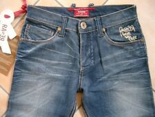 (c310) rare-The Kid Boys 6 Pocket look usado Jeans Hose con logotipo bordado gr.152