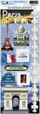 "PARIS Scrapbook Stickers 13"" x 4.5"" France Travel Vacation Eiffel Tower"