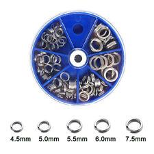 100pcs Fishing Split Rings Kits Stainless Steel Double Ring Loops Fishing Tackel