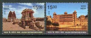 India 2018 MNH Holiday Destinations 2v Set Architecture Tourism Stamps