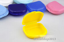 12 pcs Dental Orthodontic Retainer Denture Mouth Guard Case Bleach Tray Box